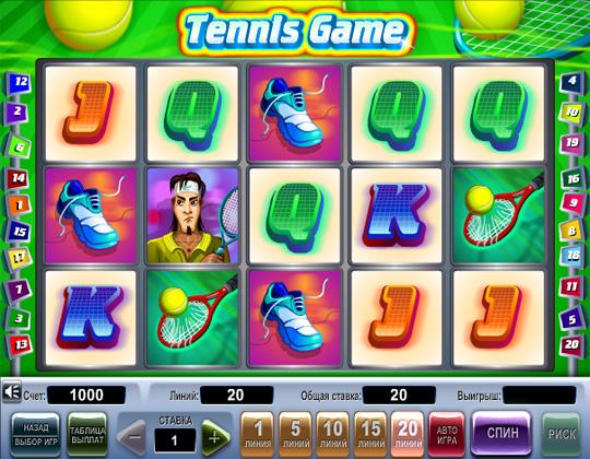 игровой автомат tennis game